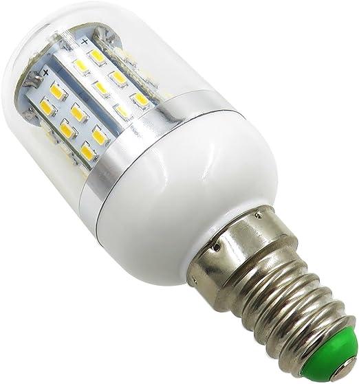 Pack de 10, E14 LED bombilla 110 V, 120 V, 220 V, 230 V, 3 W, 350 lúmenes, 48 pcs 3014 SMD explosión prueba candelarba bombillas luz luz luz de lectura lámpara de mesa (blanco 6000 K-6700 K): Amazon.es: Iluminación