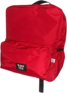 product image for backpack H2O single with two side pockets, one front pocket Made in USA. (Red)
