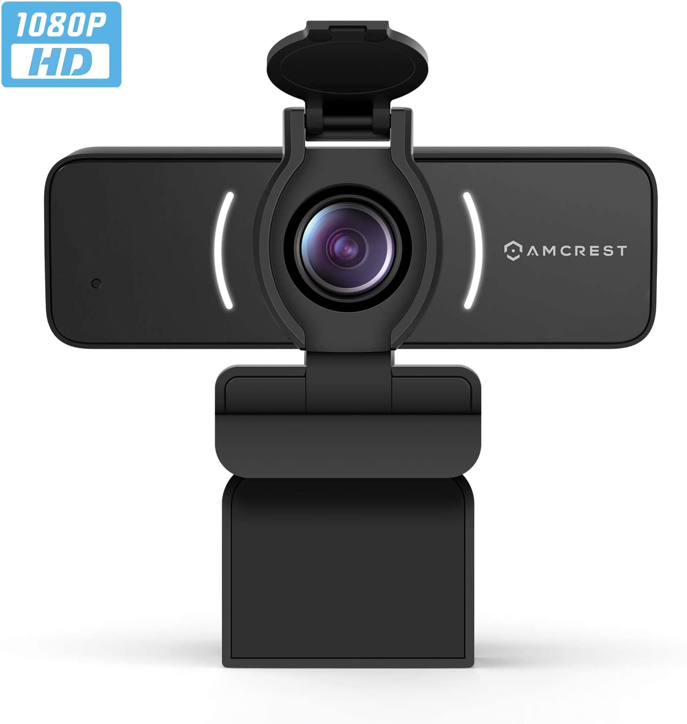 Amcrest 1080P Webcam with Microphone & Privacy Cover, Web Cam USB Camera, Computer HD Streaming Webcam for PC Desktop & Laptop w/Mic, Wide Angle Lens & Large Sensor for Superior Low Light (AWC205)