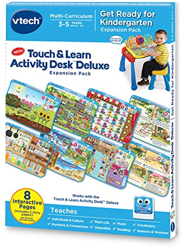 VTech Touch and Learn Activity Desk Deluxe Expansion Pack - Get Ready for Kindergarten