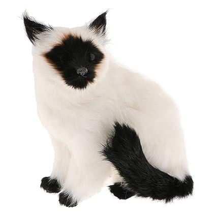 16x10x20cm Real Life Dekofigur sitzende Katze lebensecht