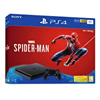 PS4 1 To F - noir + Marvel's Spider-Man Standard Edition