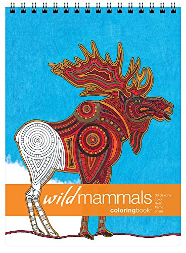 Action Publishing Coloring Book: Wild Mammals · Tribal Inspired Designs of Big Cats, Elephants, Primates and More for Stress Relief, Relaxation and Creativity · Large (8.6 x 11.75 -