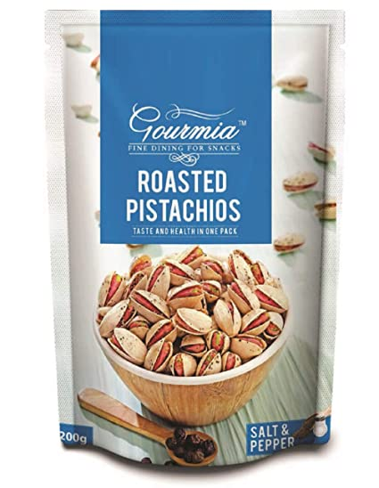 Gourmia Roasted Pistachios, Salt and Pepper, 200g