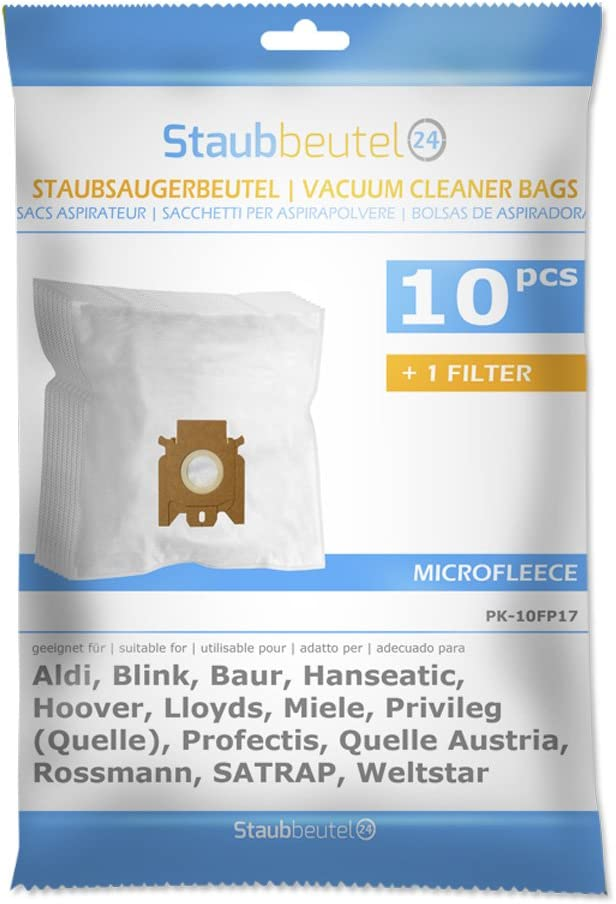 10 Vacuum Cleaner Bags Suitable for