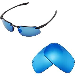 Walleva Ersatz belüftete Linsen für Oakley Jawbone Sonnenbrille - Mehrfache Optionen (Eisblau)