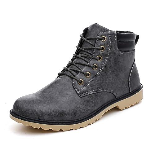 Botas Martin De Cuero para Hombre Botines Retro Vintage OtoñO Invierno Calzado Botas De Montar Antideslizantes CóModas: Amazon.es: Zapatos y complementos