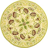 Safavieh Chelsea Collection HK330B Hand-Hooked Ivory and Green Premium Wool Round Area Rug (3′ Diameter) Review