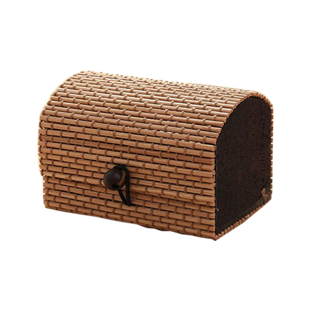 Geshiglobal Caja de Almacenamiento de Madera de bamb/ú Creativa de Alta Capacidad