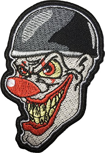Jester Costume Diy (Papapatch Crazy Laughing Clown Head Horror Joker Jester Embroidered Costume Sewing Iron on Patch (IRON-CLOWN-HEAD))