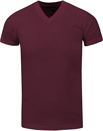 a0d5f618014 Shaka Wear Active Mens Premium Cotton Heavy Weight V Neck Basic T Shirt  XS~7XL