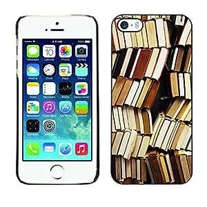 FlareStar Colour Printing Book Library Reading Teacher School cáscara Funda Case Caso de plástico para Apple iPhone 5 / iPhone 5S