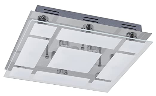 Trango TG3092 3 Stufen dimmbare 13-flg. Quadrat LED Design Bad ...
