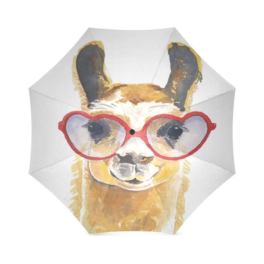 Lovely Llama 折りたたみ式雨傘 コンパクト パラソル/日傘   B07GGTVHH2