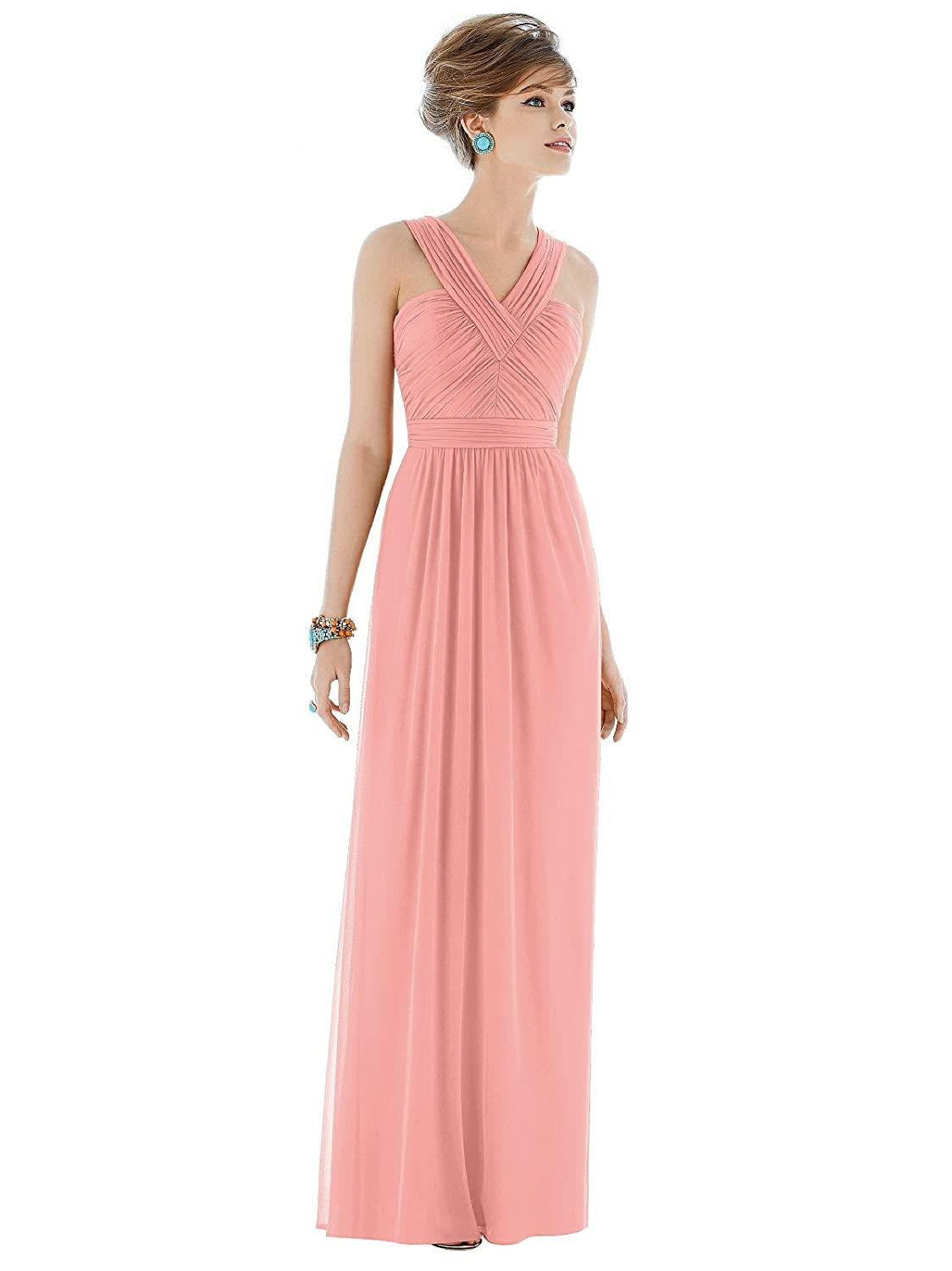 4b0f1c08156d0 ELEGANT CHIFFON BRIDESMAID DRESS - Wispy and sheer, this dress has a silky  soft finish that gives a unique effortlessly flawless look.