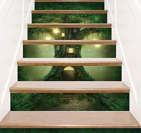 Y-XM Calcomanías para Escalera Magic Tree House Paisaje decoración Adhesivos Goma extraíble Resistente al Agua Pared de DIY Etiqueta engomada: Amazon.es: Hogar