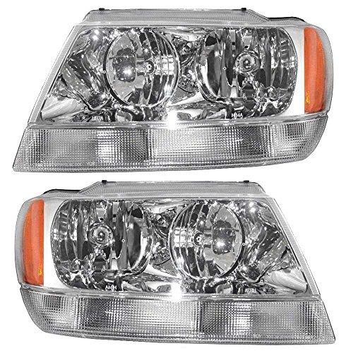 04 jeep grand cherokee headlights - 9