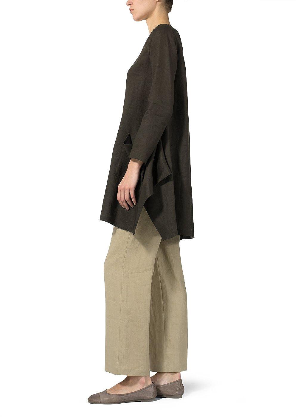 Vivid Linen Long Sleeve Top