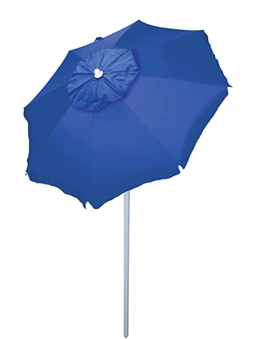 4ff56c15f50a Amazon.com: Rio Beach 6' Beach Umbrella with Sun Block, Blue: Sports ...