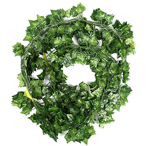 Artificial Plants - 12 X Artificial Plants Of Vine False Flowers Ivy Hanging Garland Party Home Bar Garden Wall - Basket Outdoor Roll Nearly Baskets Cabinets Money Rose Palm Plants Unpotte