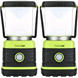 Consciot Ultra Bright LED Camping Lantern with 1000LM, D Battery Powered, 4 Light Modes, Dimmable Water-Resistant…