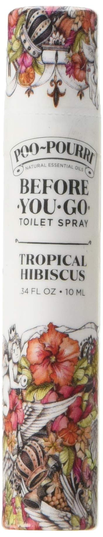 Poo-Pourri Before-You-Go Toilet Spray 10-ML Travel Size, Tropical Hibiscus Scent