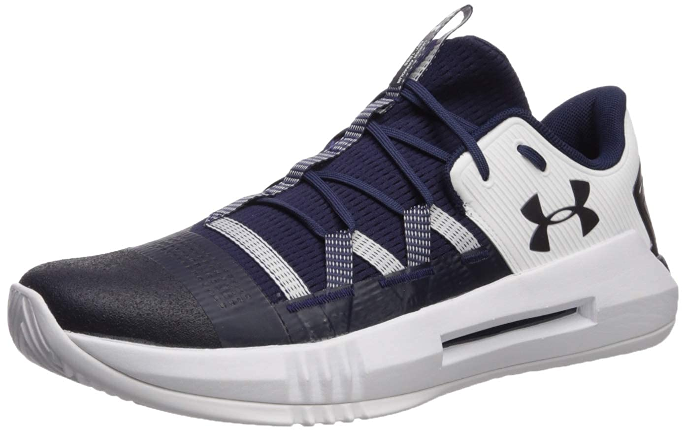 Under Armour Women's UA Block City 2.0 Volleyball Shoe, Midnight Navy (400)/白い, 9 M US