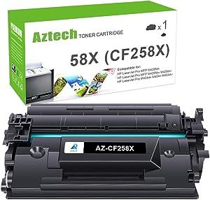 Aztech Compatible Toner Cartridge Replacement for HP 58X CF258X 58A CF258A Laserjet Pro M404n M404dn MFP M428fdw M428dw (Black, 1-Pack)