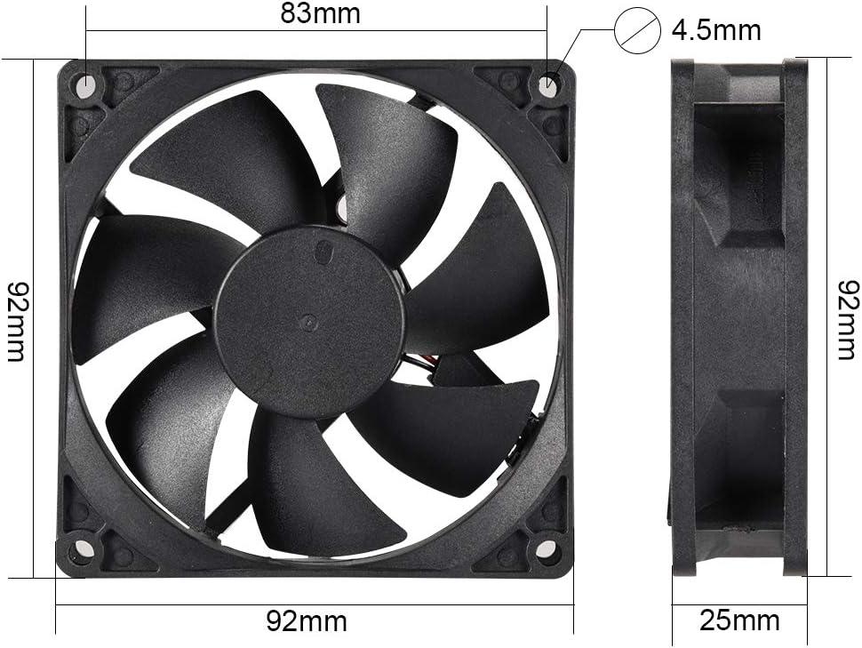 uxcell Cooling Fan 92mm x 92mm x 25mm 9225MS DC 12V 0.2A Long Life Sleeve Bearings