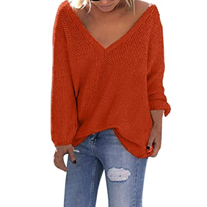 f34351f0 Amazon.com: Clearance Sale Long Sweaters Womens Long Sleeve V Neck ...