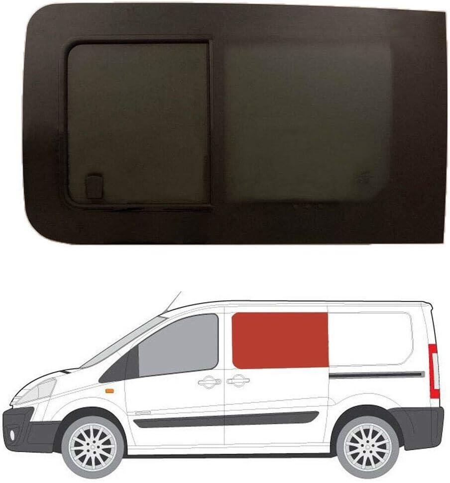 Mano izquierda ventana abatible para puerta corredera, tintado oscuro Peugeot Expert (2007 – 2016): Amazon.es: Coche y moto