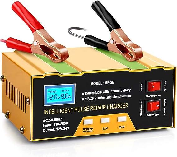 Aibeau Ladegerät Autobatterie 10a 12v 24v Kfz Batterieladegerät Vollautomatisches Intelligentes Erhaltungsladegerät Geeignet Für Blei Säure Batterie Oder Lithium Batterie Auto