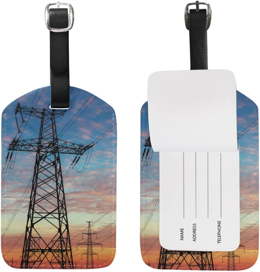 Chen Miranda High Tower Electrical Line Travel Luggage Suitcase Label Tag for Baggage 1 Piece