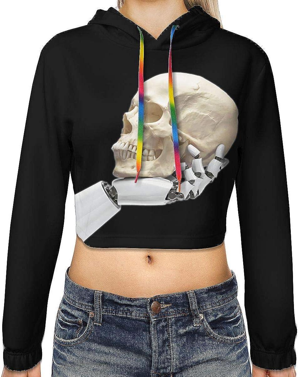 BodiGulick Dream Theater Women Cropped Hoodie Pullover Hoodie Sweatshirt Girls Outdoor Sport Coat Tops Black