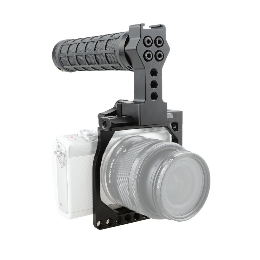 CAMVATE Tiny Cinema Camera Kit for EOS-M Camera Cage with Handle Grip