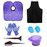 HYOUJIN 11Pcs Purple Hair coloring kit Dye Kit