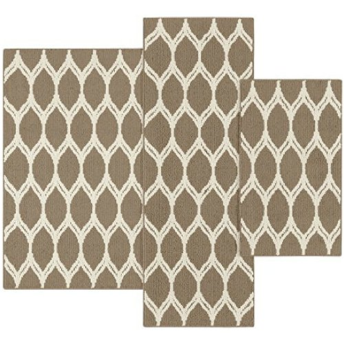 Mainstays Sheridan Ogee 3-piece Accent Rug Set
