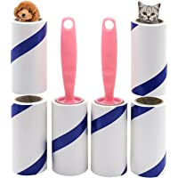 Pet Hair Remover Roller, Self-Cleaning Lint Roller, Remover Brush for Sofa, Bed,Carpet and More, 2 Roller + 4 Refills…