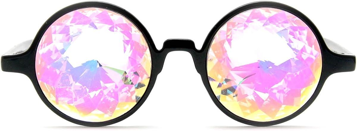 AFUT Kaleidoscope Glasses Multicolor Fractal Prism Festival Rainbow Crystal Lenses Rave EDM