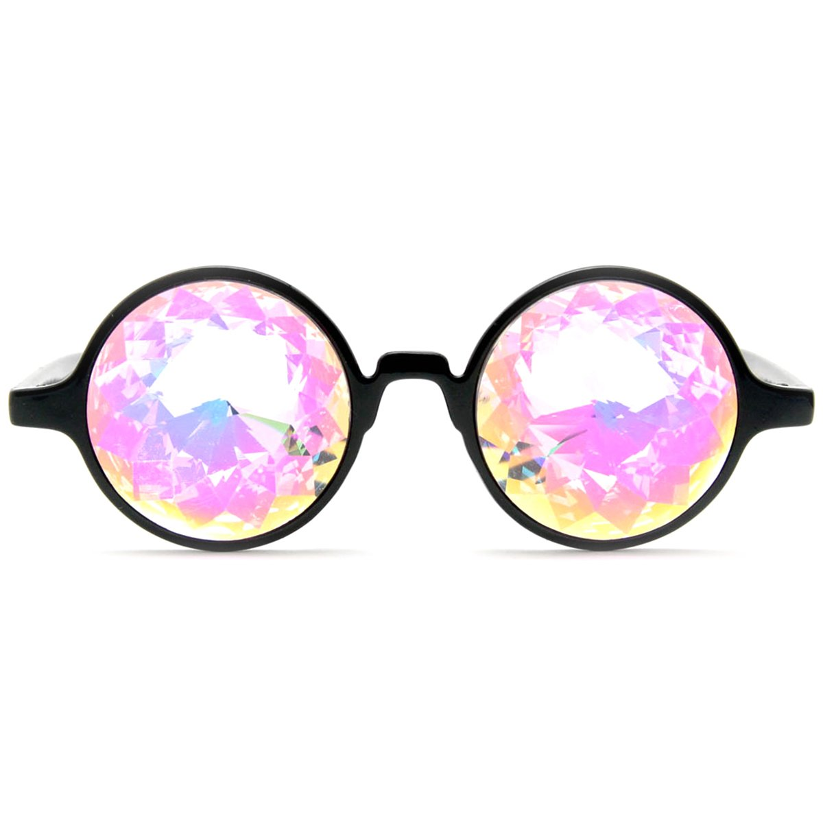 GloFX Black Kaleidoscope Glasses- Rainbow Rave Prism Diffraction by GloFX