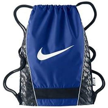 5fd0605366 Nike Brasilia Gymsack Backpack Drawstring Bag Gear Tote Majestic Royal Blue Black  Signature White Swoosh  Amazon.co.uk  Sports   Outdoors