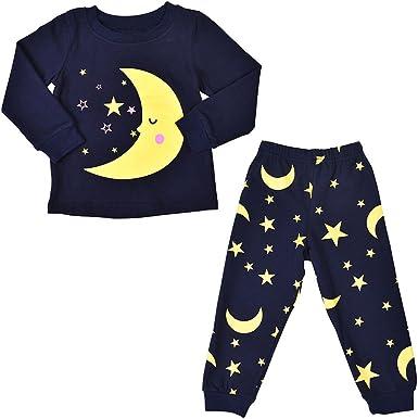 LittleSpring Little Boys Pants Stars Printed Winter