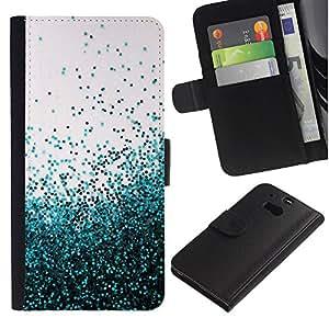 For HTC One M8,S-type® Flying Spring Blue Entropy Mess - Dibujo PU billetera de cuero Funda Case Caso de la piel de la bolsa protectora