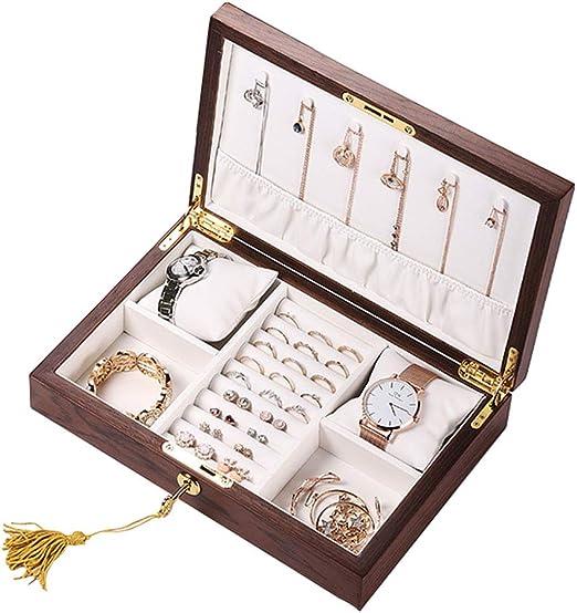Caja de joyería de madera - Caja de exhibición de terciopelo ...