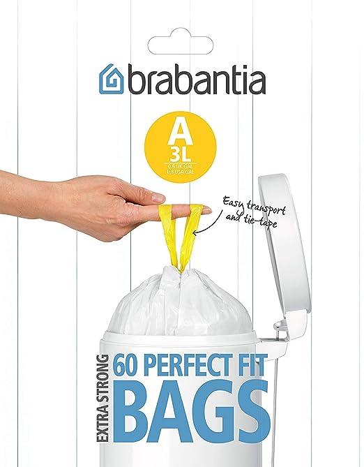 Brabantia A Expendedor Bolsas de Basura 3 L, Blanco