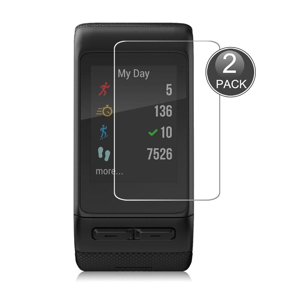 E-Hamii [2-Pack] Garmin Vivoactive Protector de Pantalla, 0.26mm HD Anti-Scratch y Anti-huella digital Proteger la pelí cula, 9H Vidrio templado Cubierta protectora, Mejor protecció n Mejor protección H165