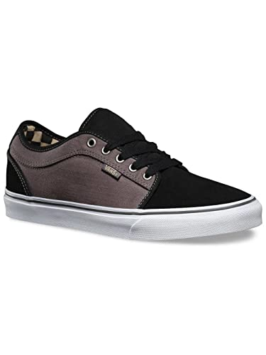 Vans Chukka Low Pro Skate Shoe - Men's (7, (Herringbone) Black/