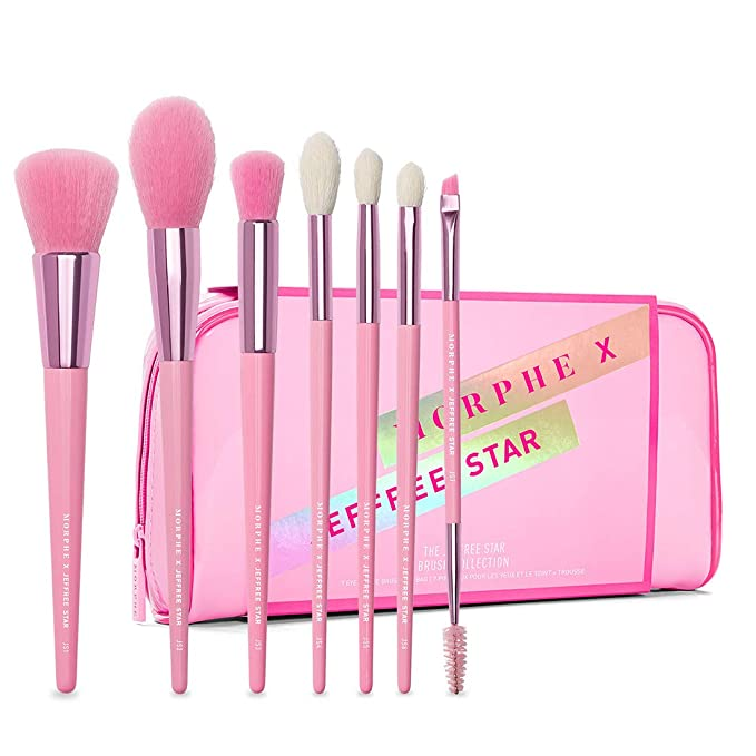 Amazon Com Morphe X Jeffree Star Eye And Face Brush Collection 7 Piece Set Foundation Precision Contour Highlight Crease Blender And Double Ended Brow And Spoolie Brushes Beauty E63 wide angle foundation brush. morphe x jeffree star eye and face brush collection 7 piece set foundation precision contour highlight crease blender and double ended brow
