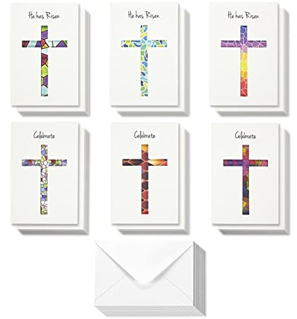 Amazon 36 pack easter greeting cards happy easter note cards 36 pack easter greeting cards happy easter note cards easter day religious cut m4hsunfo