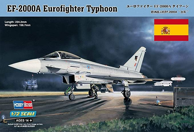 Hobbyboss Avión EuroFighter Typhoon Calcas Españolas, EF-2000A 80264: Amazon.es: Juguetes y juegos